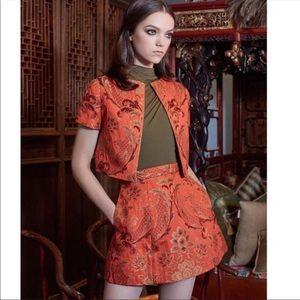 Alice + Olivia Loran Brocade A-Line Skirt Sz2